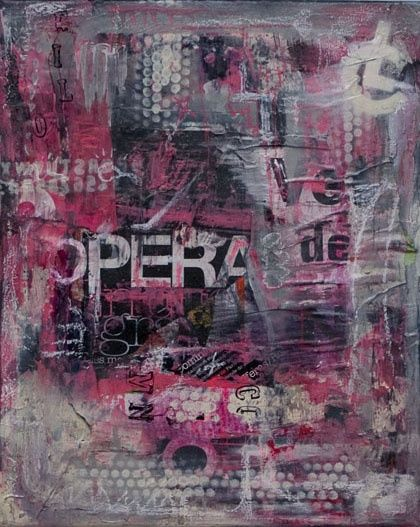 Opera - Painting,  33x41 cm ©2009 by Christopher Lecoutre -