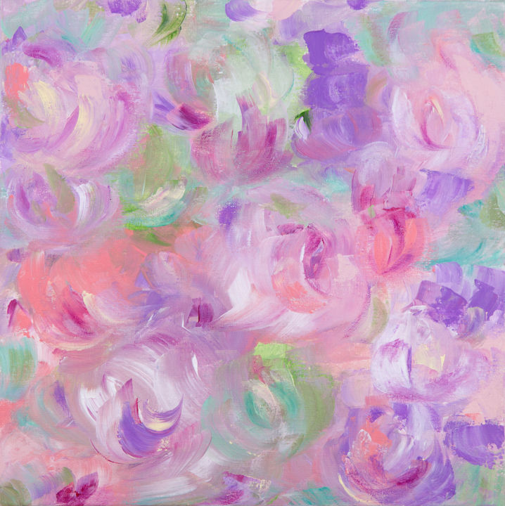 """Painting titled """"Flower composition."""" by Leena Amelina, Original Art, Acrylic"""