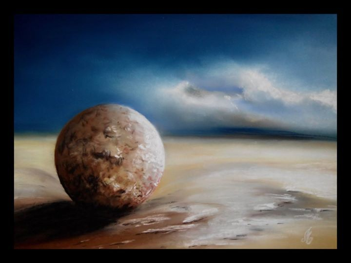 Paysages-Libres-n-70.jpg - Painting,  30x40 cm ©2015 by Murielle Léger -