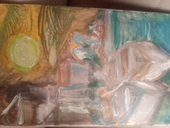 """Painting titled """"Barche"""" by Leila Turk, Original Art, Acrylic"""