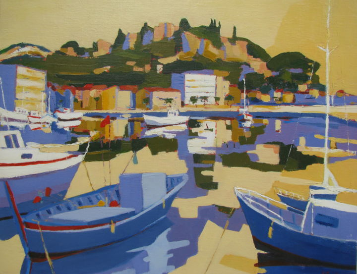 Cassis Painting By Jean Noel Le Junter Artmajeur