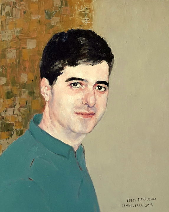 gera.jpg - Painting,  50x40x1.5 cm ©2018 by lubalem -                                                                                                                        Figurative Art, Portraiture, Realism, Contemporary painting, Canvas, People, Portraits, Colors, Portrait of young man G