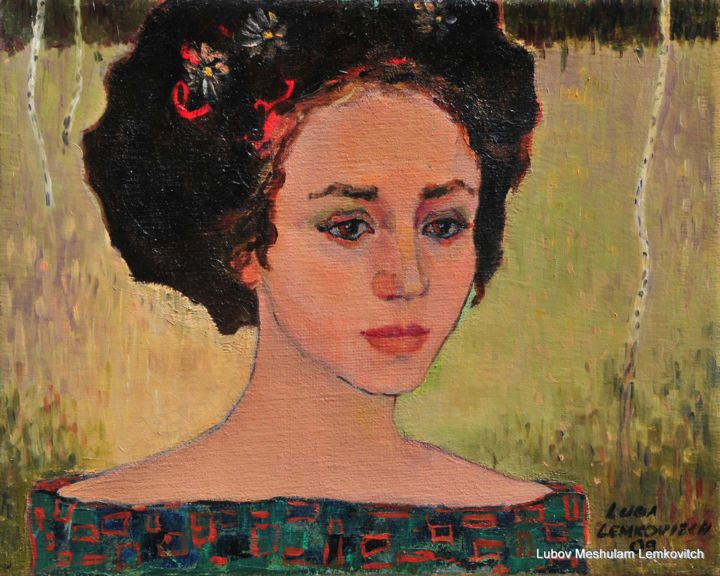 lubov-meshulam-lemkovitch-portrait-of-young-woman-oil-on-canvas-40x50cm-001.jpg - Painting,  40x50x1 cm ©2009 by lubalem -                                        Portraiture, Portraits