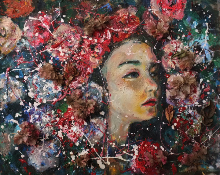 """Painting titled """"In the blooms 01"""" by Hai Nguyen, Original Art, Oil"""