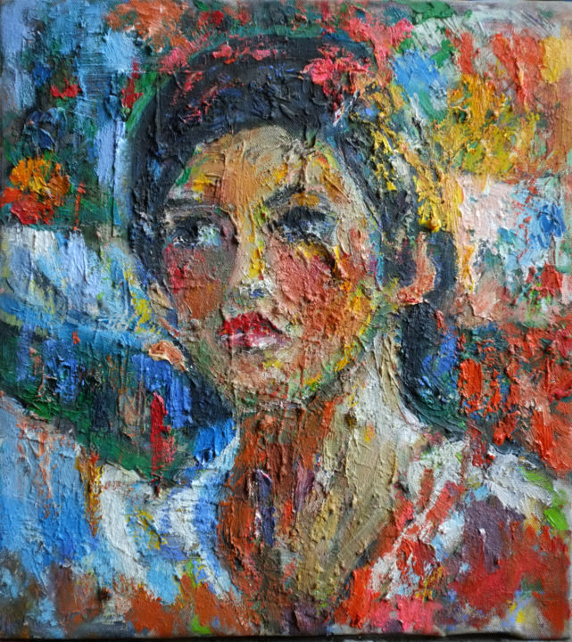 """Painting titled """"In the blooms 03"""" by Hai Nguyen, Original Art, Oil"""