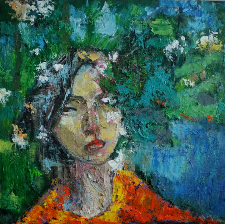 """Painting titled """"In  the blooms 07"""" by Hai Nguyen, Original Art, Oil"""