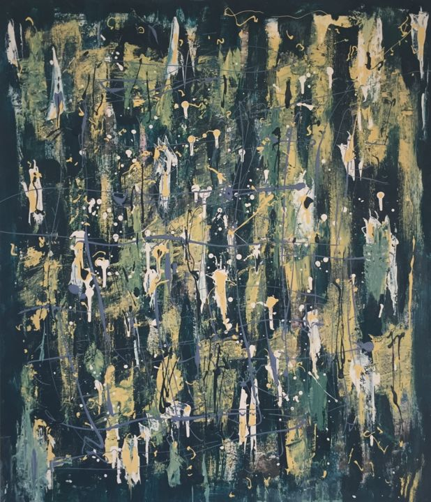"""Painting titled """"sound of the crowd"""" by Leonid Shver, Original Art,"""