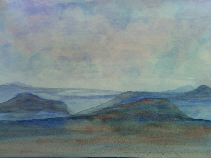 """Painting titled """"sandduneswatercolor…"""" by Leona Dadian Akers, Original Art,"""