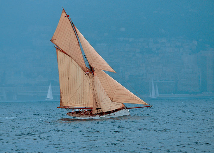 Voile - Photography,  30x40x2 cm ©2006 by Leroy -                                            Aluminum, Sailboat, voile, voilier, marin, mer