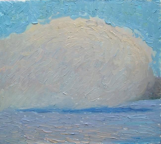 Облако на воде - Painting,  45x50 cm ©2009 by Олеся Хлевная -                            Contemporary painting, художники одессы