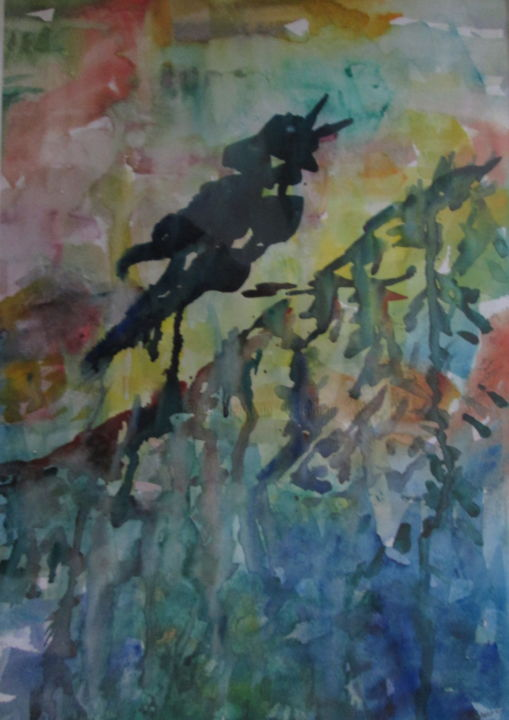 crow-hill-1-1.jpg - Painting,  14x11 in ©2018 by Lesley Braren -