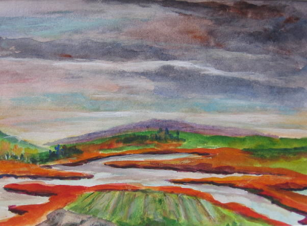 Meander Maine - Painting ©2009 by Lesley Braren -