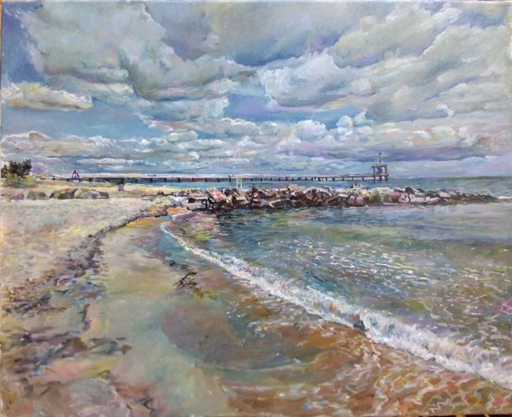 """Painting titled """"Shifting clouds"""" by George Mirinchev, Original Art, Oil"""