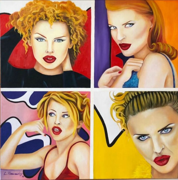 Painting, oil, pop art, artwork by Luciano Fernandes