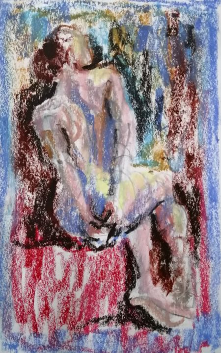 """Painting titled """"Fauvist Nude 16."""" by Liam Ryan, Original Art, Acrylic"""