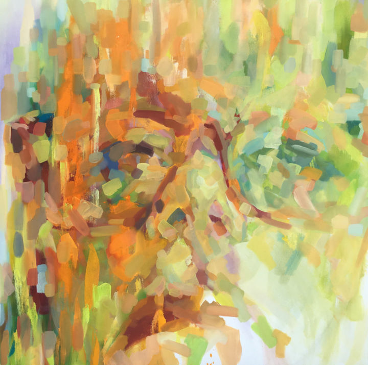 """Painting titled """"Self Portrait 132"""" by Anne Hoover, Original Art, Oil"""