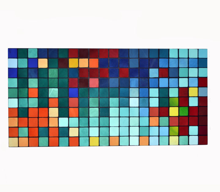Sounds 125 x 60 cm 3D wood mosaic painting Painting by