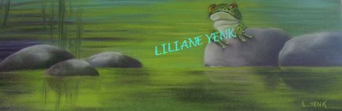 Grenouille - Painting,  48x18 cm ©2012 by Liliane YENK -