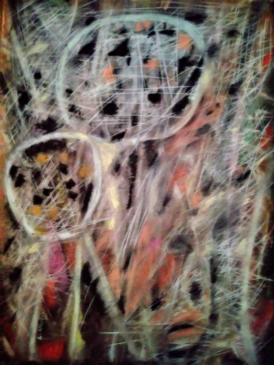 """Drawing titled """"Hiding-by-Li-Narbon…"""" by Li Narboni, Original Art, Other"""