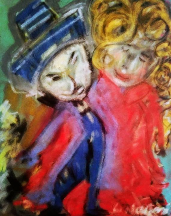 """Drawing titled """"Come-With-Me-by-Li-…"""" by Li Narboni, Original Art, Charcoal"""