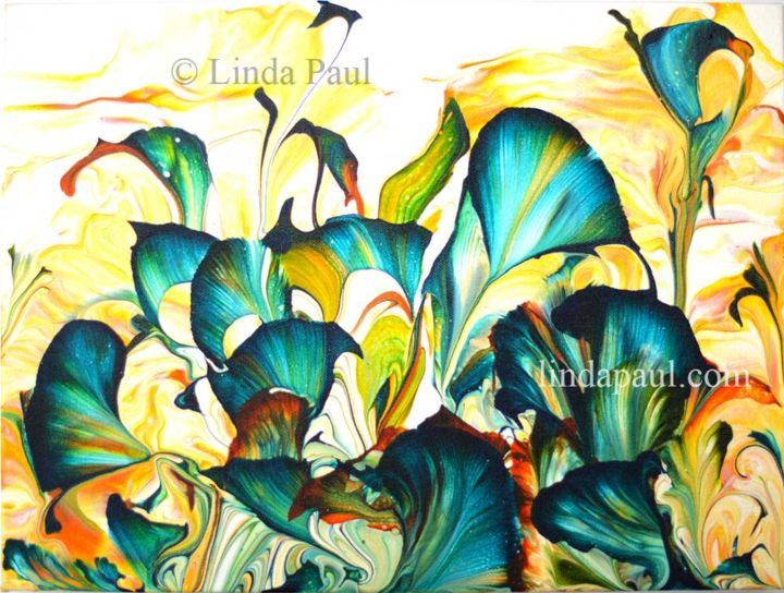 """Painting titled """"Wild at Heart Abstr…"""" by Linda Paul, Original Art, Acrylic"""