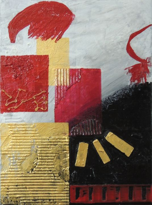 """Painting titled """"Automation 2"""" by Linda Devine, Original Art, Acrylic"""