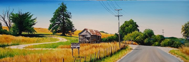 """Painting titled """"Out to Lunch"""" by Linda Hannan, Original Art, Oil Mounted on Stretcher frame"""
