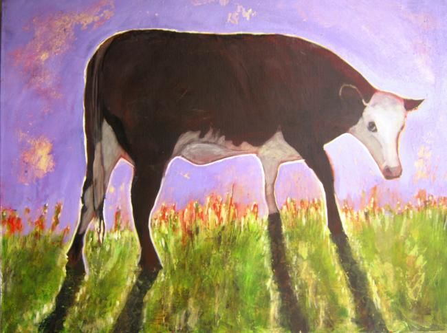 """Painting titled """"Holy Cow"""" by Linda Morris, Original Art,"""