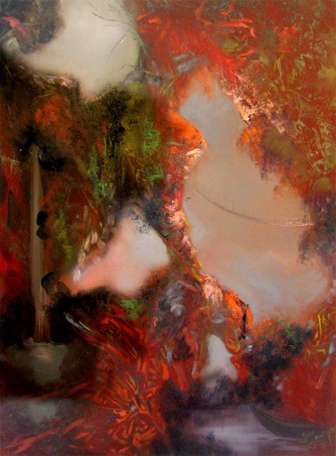Between dreams 2 - Painting ©2008 by L.Jakobsson -