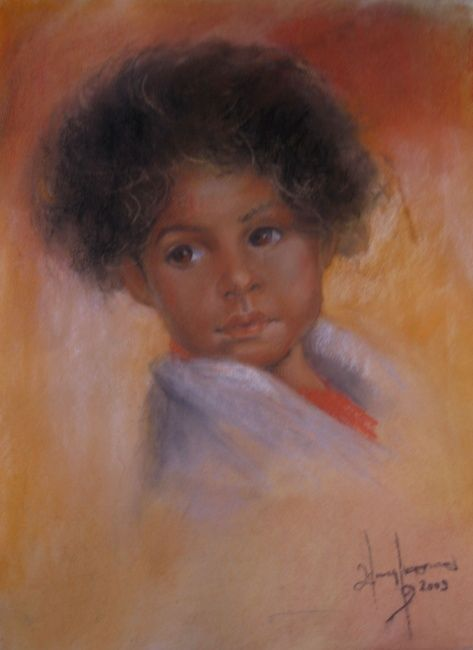 Thaigirl Ling - Painting ©2009 by L.Jakobsson -