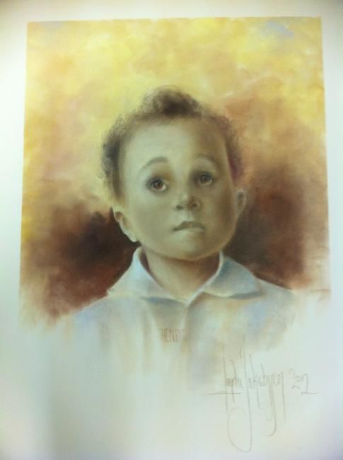 Boy commission - Painting ©2012 by L.Jakobsson -