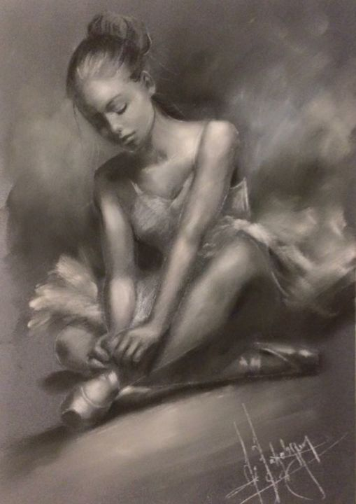 Ballerina - Painting ©2015 by L.Jakobsson -