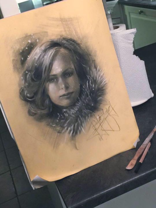 Drawing, pastel, artwork by L.Jakobsson