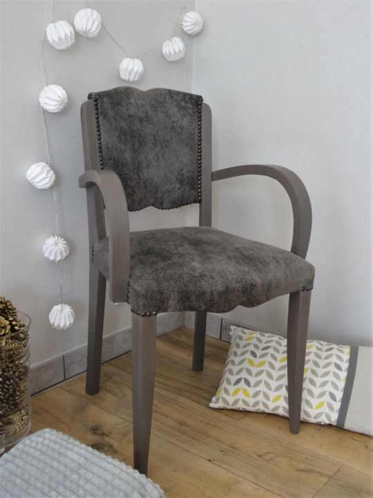 Decoration Interieur Design Contemporain fauteuil bridge années 30 restauration tapissier design por