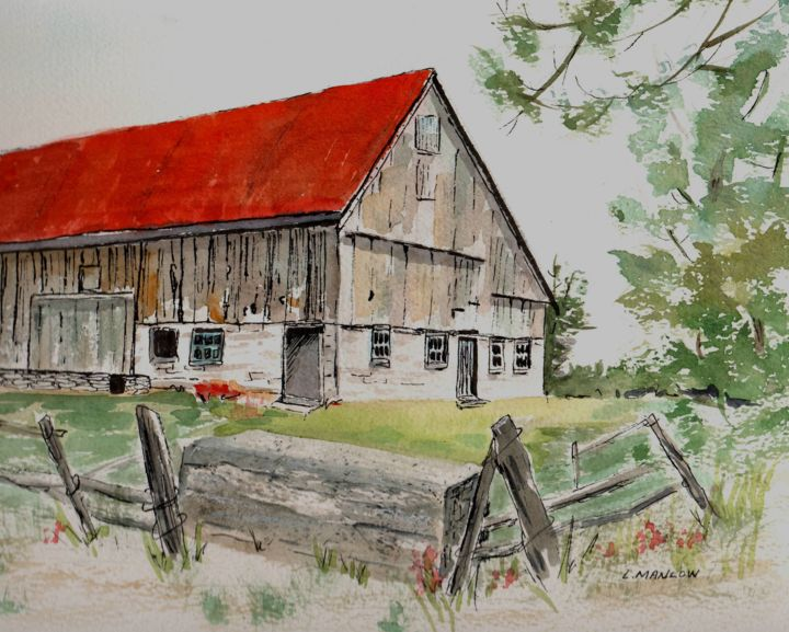 """Painting titled """"Prince Edward Count…"""" by Lin Manlow, Original Art, Watercolor"""