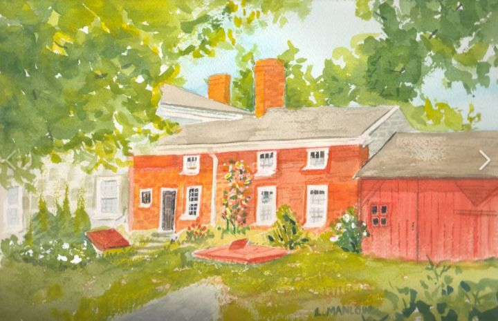 """Painting titled """"macauley-house.jpg"""" by Lin Manlow, Original Art, Watercolor"""
