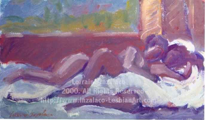 """Painting titled """"Heavenly"""" by Lorraine Inzalaco, Original Art, Oil"""