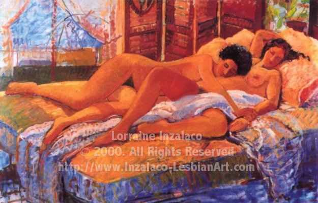 """Painting titled """"DUO"""" by Lorraine Inzalaco, Original Art, Oil"""