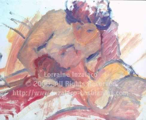 """Painting titled """"Beckoned Embrace"""" by Lorraine Inzalaco, Original Art, Oil"""