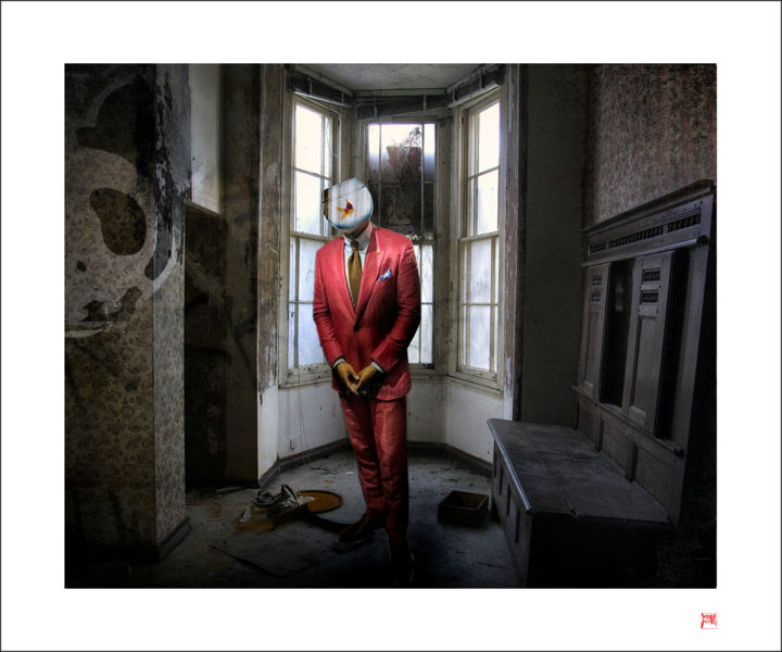 """Photography titled """"Tobe or not to be"""" by Lionel Morateur, Original Art, Manipulated Photography Mounted on Aluminium"""