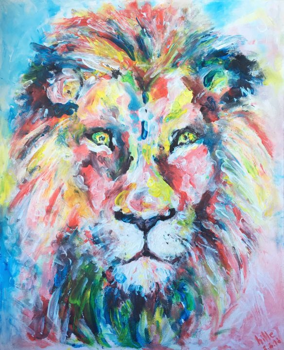 """Painting titled """"8:8:8 LionsGate Por…"""" by Hille Malm, Original Art, Acrylic"""