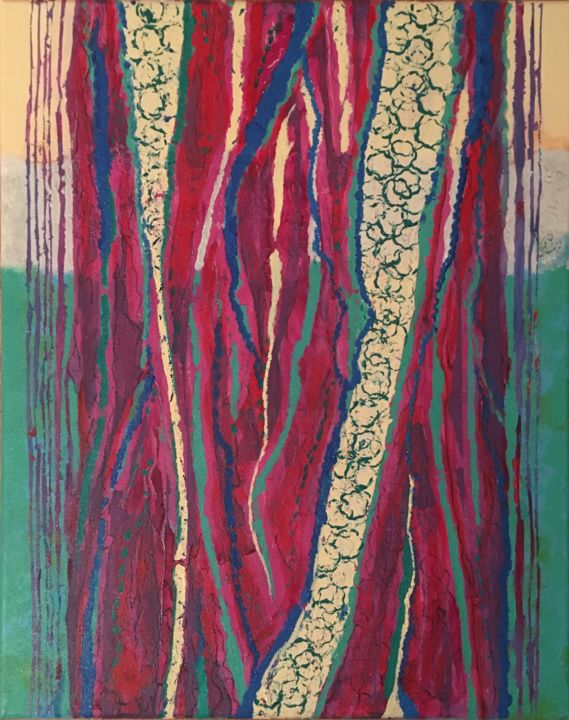"""Painting titled """"Trees #2"""" by Lisa Trevino, Original Art, Acrylic Mounted on Stretcher frame"""