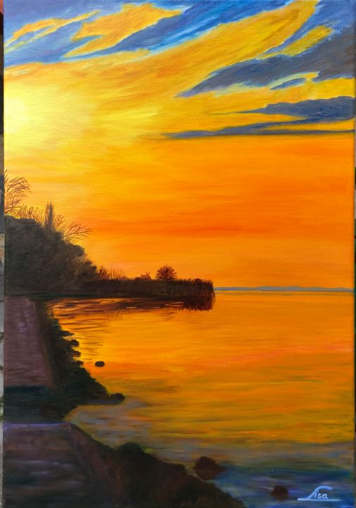 """Painting titled """"A beautiful moment…"""" by Lisa Elinor, Original Art, Oil"""
