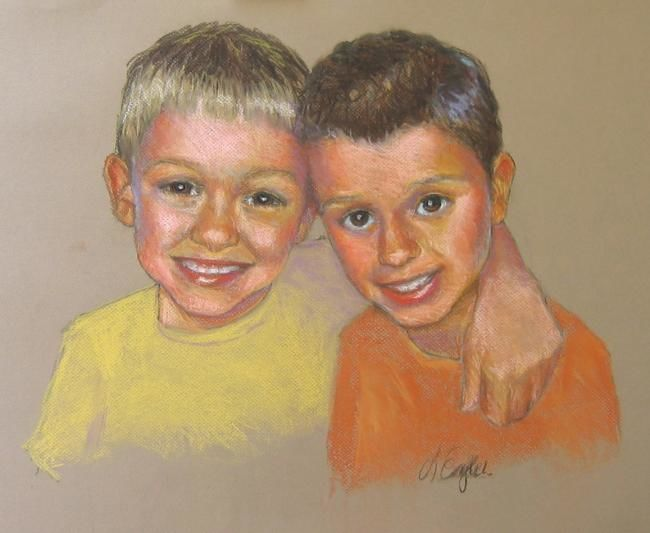 """Painting titled """"Jack and Ben"""" by Lisa English, Original Art,"""