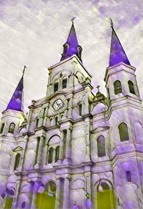 """Photography titled """"St Louis Cathedral…"""" by Lisa Kendall Mitchell, Original Art, Digital Photography"""