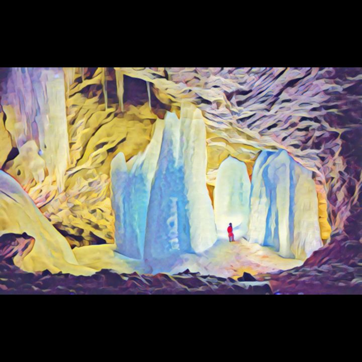 """Photography titled """"Gemstone Cave"""" by Lisa Kendall Mitchell, Original Art, Digital Photography"""