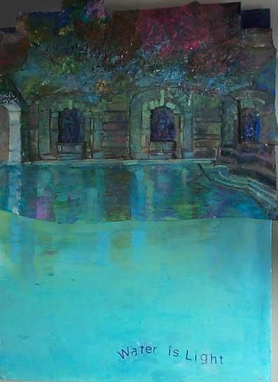 """Painting titled """"water is light"""" by Lisa Reindorf, Original Art,"""