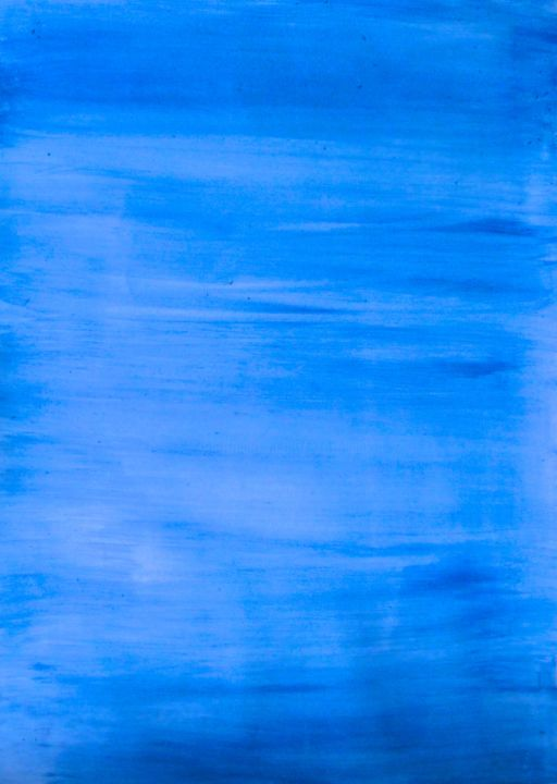 Into the Blue, abstract painting - Painting,  15.8x11.8 in, ©2015 by Liza Peninon -                                                                                                                                                                          Abstract, abstract-570, Seascape