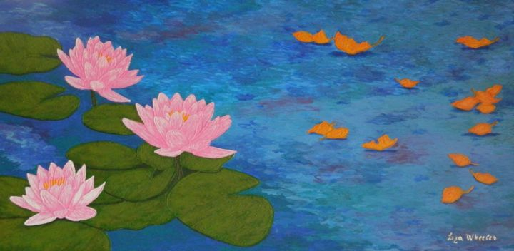 Last Song Of Summer Large Lotus Flower Painting Preview Print