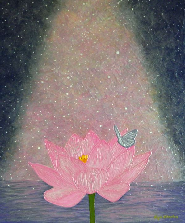 Lotus power abstract pink lotus flower liza wheeler lotus power abstract pink lotus flower painting 53x65x15 cm 2018 izmirmasajfo